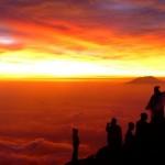 sunrise gunung merapi