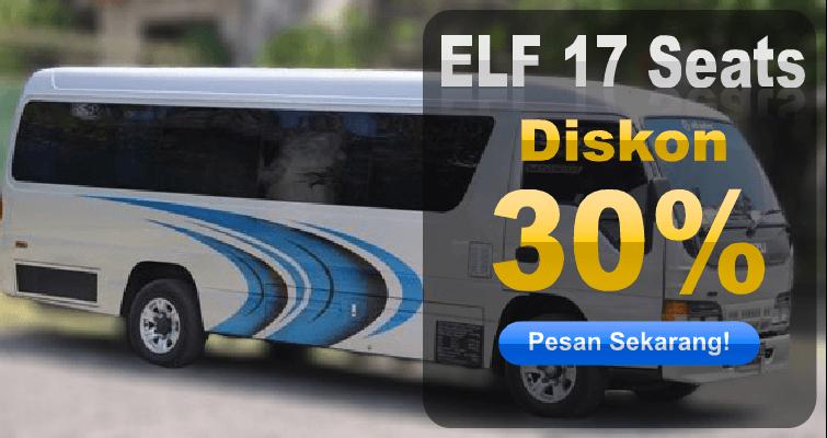 Sewa Kendaraan Beroda Empat Elf Long 17 Seats Diskon 30% (September 2015)