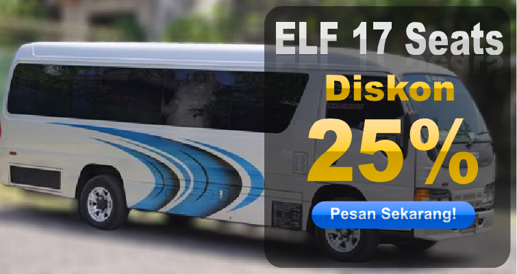 Rental Elf 17 Seats Diskon 25% (Oktober 2015)